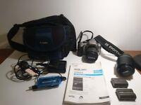 Canon Eos 300D DSLR Camera - 2 lense bundle bag