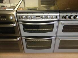 Stoves silver gas cooker (double oven)