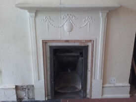 cast iron fireplace now removed