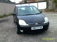 2004 black fiesta zetec 1.3cc good condition 6 months mot
