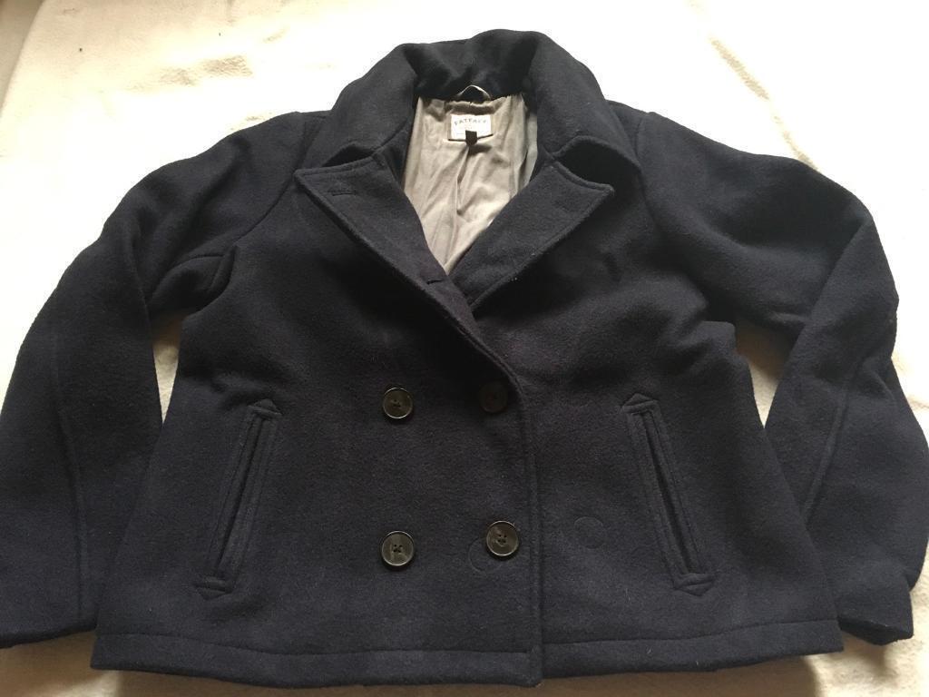 Fatface ladies waist coat jacket wool black size 16 used £5