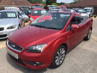2007/57 FORD FOCUS 2.0CC-2,CABRIOLET,METALLIC RED,2 OWNERS,SERVICE HISTORY,LOOKS AND DRIVES WELL