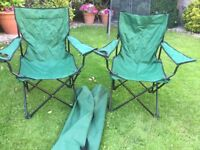 Pair of Camping / Fishing / Folding Chairs