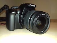 Canon 1100D with 18-55 lens and filters