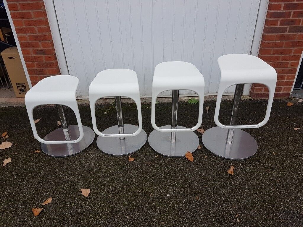 Strange 4 Premium Quality Molded Plastic Bar Stools Brushed Steel Bases Free Delivery 863 In Leicester Leicestershire Gumtree Beatyapartments Chair Design Images Beatyapartmentscom