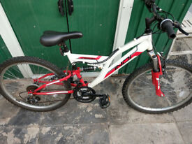 "Unisex 24"" mountain bicycle"