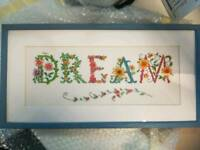 Completed Dream Cross stitch