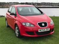 SEAT ALTEA 1.9TDI/ESTATE/5DR/FULL MOT/3 MONTHS WARRANTY 54:2005/A SERVICE, with low miles