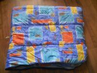 Multi coloured sleeping bag large size