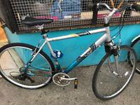 Raleigh Pioneer alloy metro Large 21 inch frame bike cycle hybrid mens bicycle