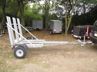 UNIQUE FULLY GALVANISED 3 WHEELER- TRIKE- TRICYCLE TRANSPORTER TRAILER....