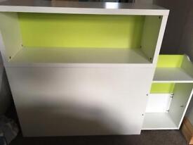 Ikea flaxa headboard storage
