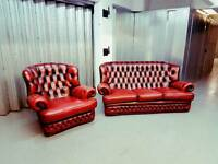 3 Seater Chesterfield Sofa and Armchair