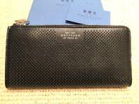 SMYTHSON Large Eliot Slim Leather Black Wallet Purse RRP £550