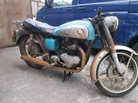 Barn find Norton Dominator motorbike 1959 500cc restoration project