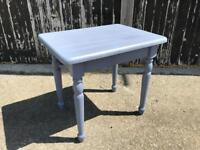 Vintage occasional table / side end table painted in Annie Sloan Old violet solid wood