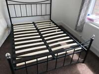 Double bed frame and mattress £70