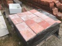 9x9 reclaimed Terracotta quarry tiles