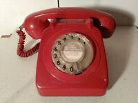 Classic GPO (60s to 80s) Telephone in Red