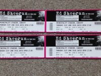 PRICE REDUCED......£205 for 2 X ED SHEERAN PRINCIPALITY STADIUM CARDIFF SEATED TICKET