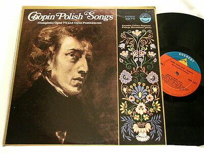 CHOPIN Polish Songs (complete) Annette Celine Felicja Blumental Everest LP