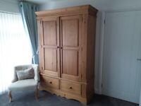 Solid pine 2 door/2 drawers Wardrobe