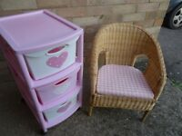 Girls bedroom furniture Chair & storage unit