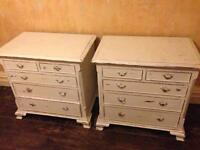 Hardwood Bedside Cabinets (pair)