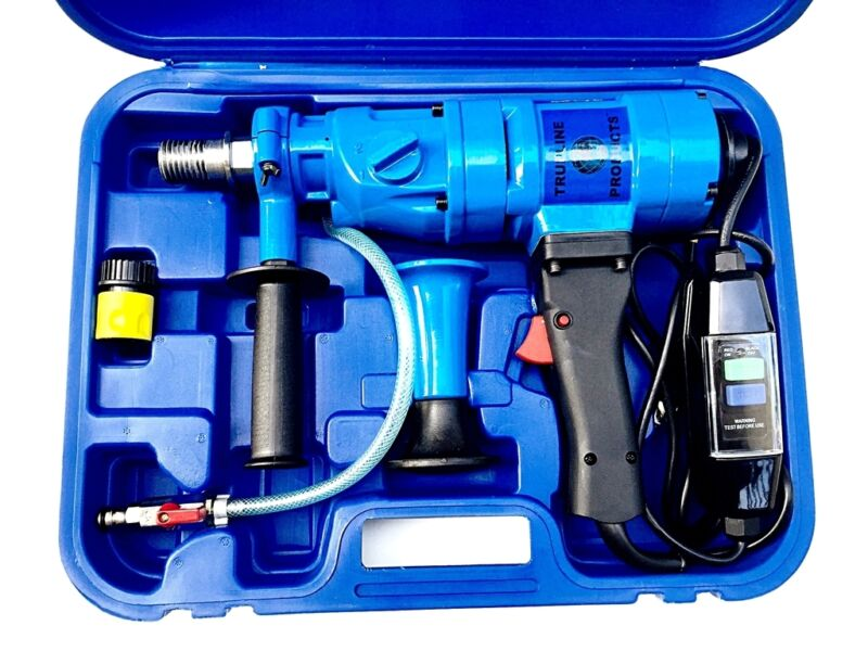 2 speed wet hand held core drill with overload protection
