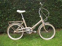 Stunning Vintage Hercules (Raleigh) Folding Bike Classic RetroFold Up Cycle
