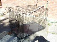 Large Folding Dog Cage – Used, Good Condition