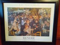 Renoir prints x 2 sizes: 58x48cm