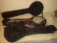 5 String Artist banjo with soft and hard case