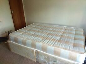 1 double bed with 1 cushion collection only one cupboards one sofa 3 seater