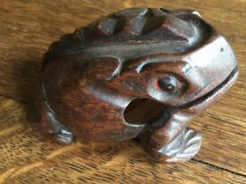 A Carved Wooden Model of a Toad