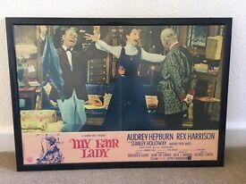 Original framed film poster of My Fair Lady with Audrey Hepburn
