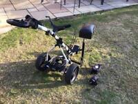 Power Bug electric golf trolley.