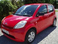 **DAIHATSU SIRON 1.0 5 DOOR HATCHBACK IN BRIGHT RED** ONLY £30 ROAD TAX FOR THE YEAR**