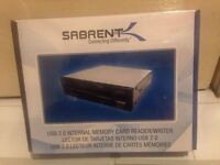 Sabrent 75 in 1 USB 2.0 Internal Memory Card Reader/Writer with Power Cord - Brand New & Sealed