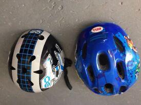 Kids helmets x2