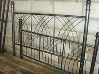 "Solid Metal Bed Frame (double bed) 4ft 6"" width bargain price"
