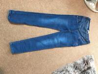 Maternity jeans, size 14.