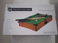 TABLETOP POOL /SNOOKER NEW