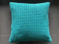 Harlequin Turquoise Cushion In Excellent Condition