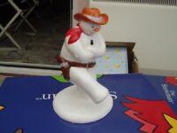 Cowboy Jig Snowman Figure