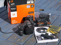 Sony A65 Digital camera system as new hardly used all boxed