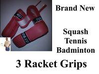 3 top quality racket grips brand new tennis squash etc