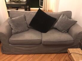 Lovely Grey fabric 2 seater Sofa - great condition