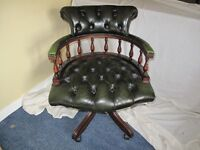 captains desk leather chair