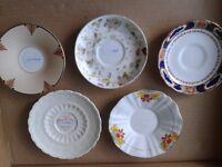 antique british five plates